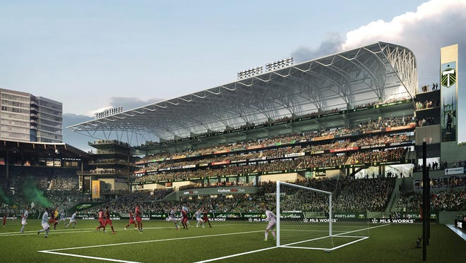 Rendering of proposed expansion at Providence Park.