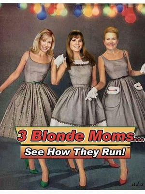 Joanie Fagan, Stephanie Blum and Beaumont Bacon are the 3 Blonde Moms.