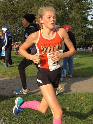 Brighton freshman Lindsey Witte finished second in the regional cross country meet last Friday. She's also qualified for the state swimming meet in three events.