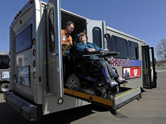 the fare for paratransit riders photo emily spartz argus leader