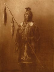 """""""Apsaroke Medicine Crow,"""" a photogravure by Edward Sheriff Curtis, is part of a current exhibit at the the Charles M. Bair Family Museum in Martinsdale."""