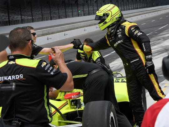 Team Penske IndyCar driver Simon Pagenaud (22) with