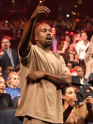 Kanye West's voice was just one of many strange things at the 2015 MTV Video Music Awards.