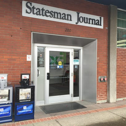 The entrance to the Statesman Journal on Church Street