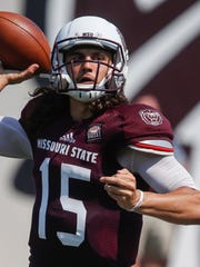 Missouri State quarterback Peyton Huslig showed some bright spots during Saturday's scrimmage.