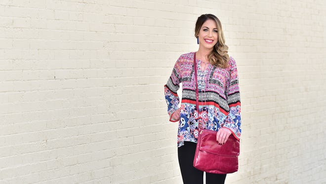 Shopping ListBoho is the hottest thing going and this Kyla Seo top ($110) offers a throwback vibe in bright hues. Wear it with Dear John black jeans ($89) and a plum hobo bag by Kerrigan for a look that is as pretty as it is trendy.