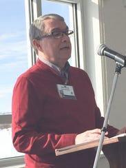 Fairfield Medical Center board chair Ron Burris speaks