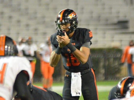 Hoover High School quarterback Robby Ashford (above) is committed to Ole Miss to play both football and baseball, two sports he intends on playing for as long as he can.