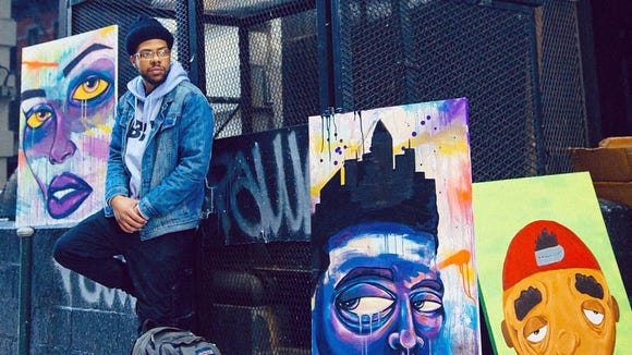 """Wilmington artist Terrance Vann will debut his new """"City Limits"""" art show at LaFate Gallery (227 N. Market St., Wilmington) Friday night as part of the citywide art loop."""