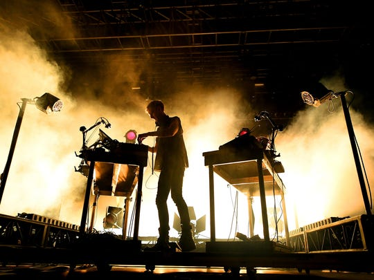Richie Hawtin performs at the Mojave stage during the