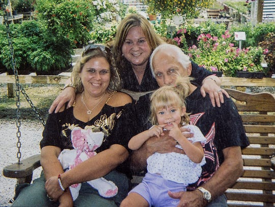 From left, Jessica Roth with her birth parents, Marcie