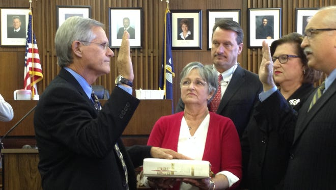 Keith Stutes was sworn in Thurssday as district attorney of the 15th Judicial District.
