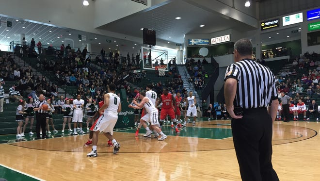 The Binghamton University men's basketball team hosted SUNY system rival Stony Brook in the Events Center on Sunday afternoon.