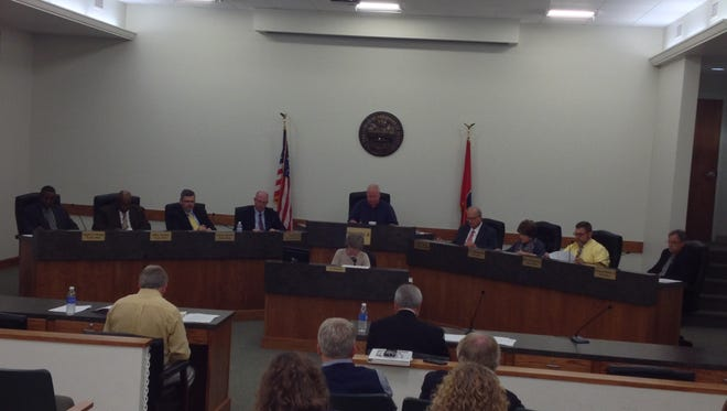 Pictured is the Dickson City Council during their Nov. 2 regular meeting at City Hall.