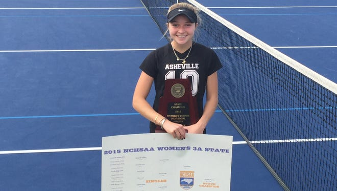 Asheville High junior Adrienne Haynes was the Mountain Athletic Conference Player of the Year and later a NCHSAA 3-A champion in girls tennis.
