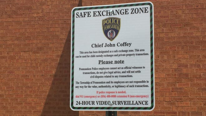 A new Safe Exchange Zone  was unveiled at Pennsauken Police Department Wednesday afternoon.