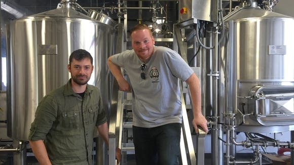 Chris Mazzone (left) and Chris Burke, owners of Eight & Sand Beer Company, are getting ready to hit the Atlantic City Beer Fest with their latest release, Smoked Jersey Long Hot.