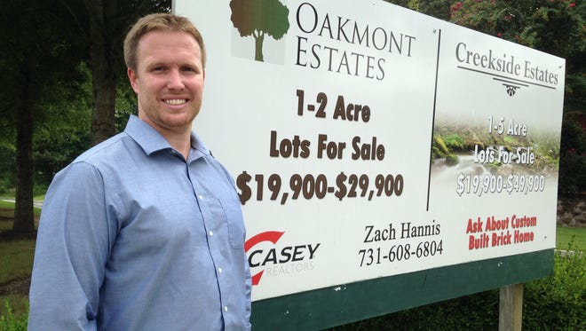 Zach Hannis sells real estate and develops property in Henderson and Chester County as an affiliate broker with Casey Realtors.