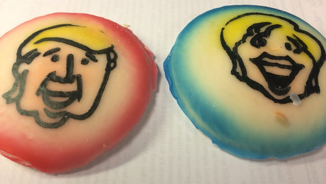 Every presidential election year, Busken Bakery makes candidate-faced cookies, and tracks sales as votes.