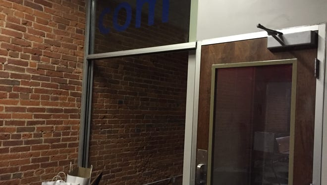 Here's the entrance to the cat room at the planned River Kitty Cat Cafe at 226 Main St.
