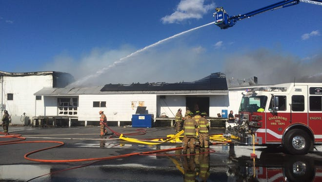 Bunting & Bertrand Poultry Equipment warehouse caught fire Monday.
