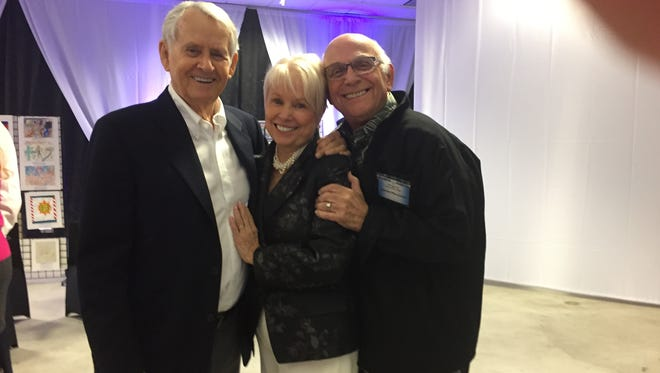 """Roger Perry, Joyce Bulifant, (author of """"My Four Hollywood Husbands"""")  Gavin MacLeod (Mary Tyler Moore, Love Boat)"""