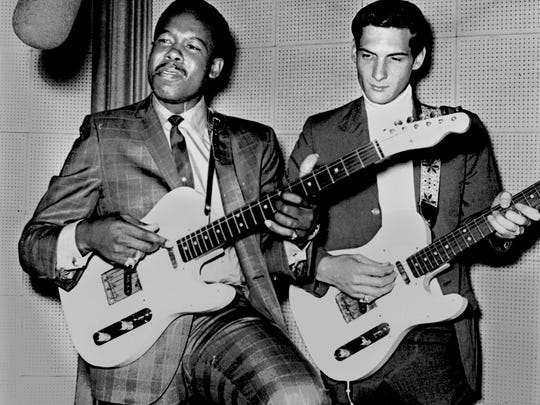 Eddie Floyd (left) and Steve Cropper in photograph