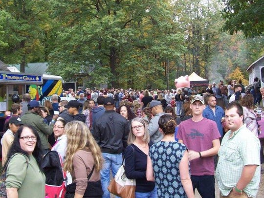 Festival-goers are shown during last year's Bacon Bash.