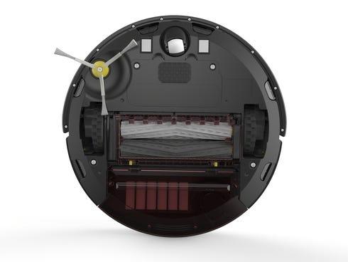 Underside view of iRobot's new roller technology