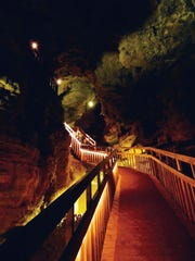Discovered in 1881 by two local farmers Crystal Cave near Spring Valley, an hour west of Eau Claire, was opened to the public in 1942.