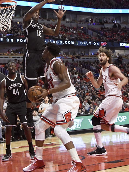 6d4fce57ef9 Bulls clinch playoff spot with 112-73 rout over Nets