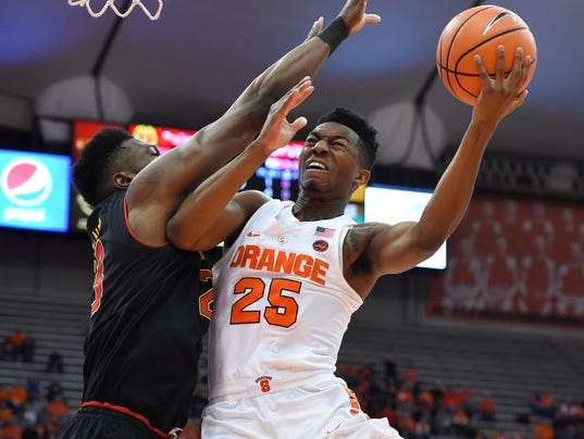 NCAA Basketball: Maryland at Syracuse