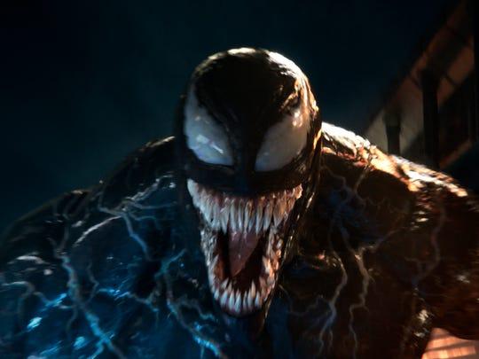 "Journalist Eddie Brock (Tom Hardy) gets an alien makeover as the title antihero of ""Venom."""