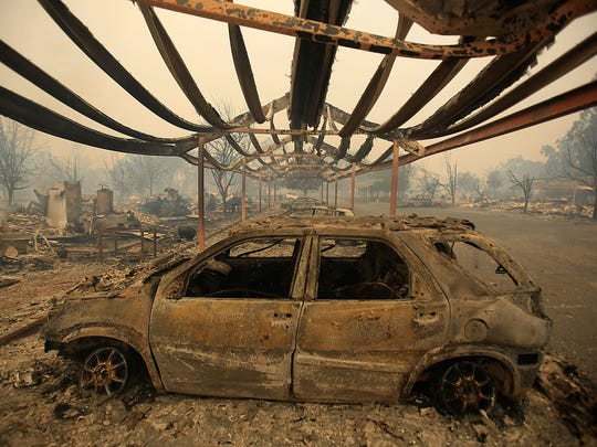 A wildfire ravaged an apartment complex with more than