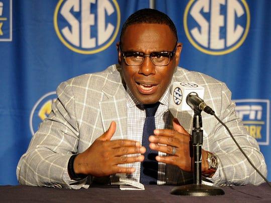 Vanderbilt head coach Derek Mason attends a press conference