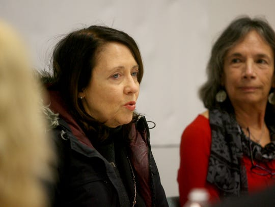 U.S. Sen. Maria Cantwell discusses the opioid crisis during an appearance in Bremerton.