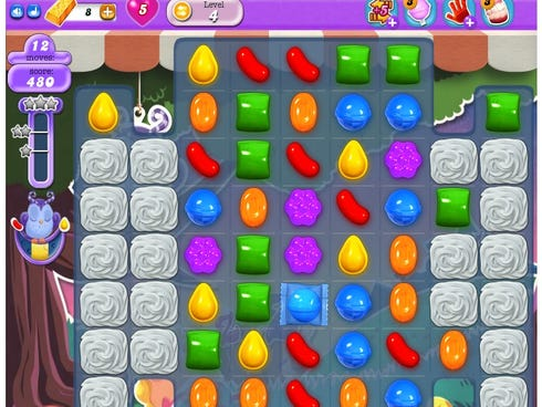 Candy Crush, no. 1 downloaded Apple app of the year.