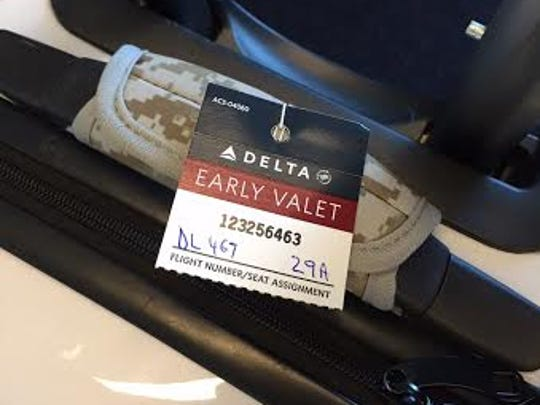 Delta's Early Valet program puts some passengers' carry-on