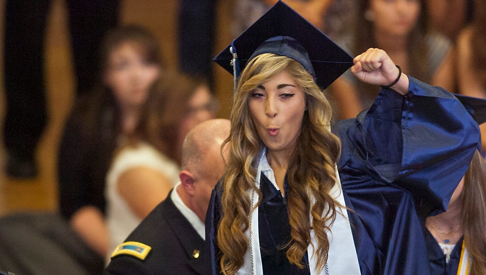 A graduating senior at Oasis High School in Cape Coral