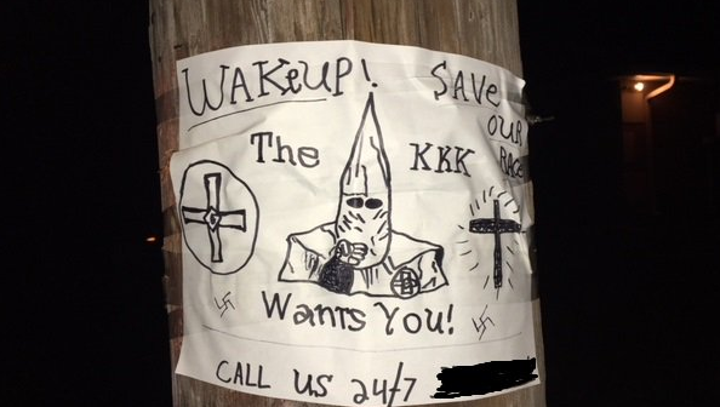 KKK faction denies involvement in case of racially charged signs posted in Port St. Lucie
