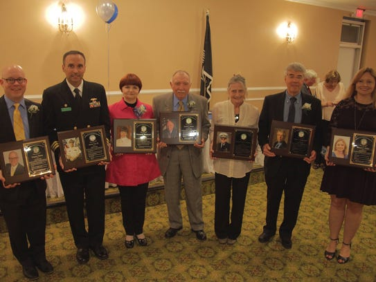 The 2018 inductees into the Sayreville War Memorial