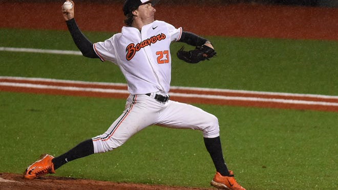 Oregon State's Andrew Moore was selected by the Seattle Mariners in the second round of the 2015 Major League Baseball Draft.