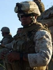Sheboygan Veteran Anthony Salazar in his military gear. Salazar served to tours of duty in Iraq.
