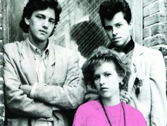 Andrew McCarthy, left, Molly Ringwald and Jon Cryer