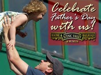 $10 rides for Dads at Boone & Scenic Valley RR