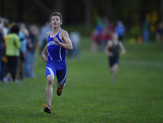 Green Bay Southwest's Alec Basten races towards the