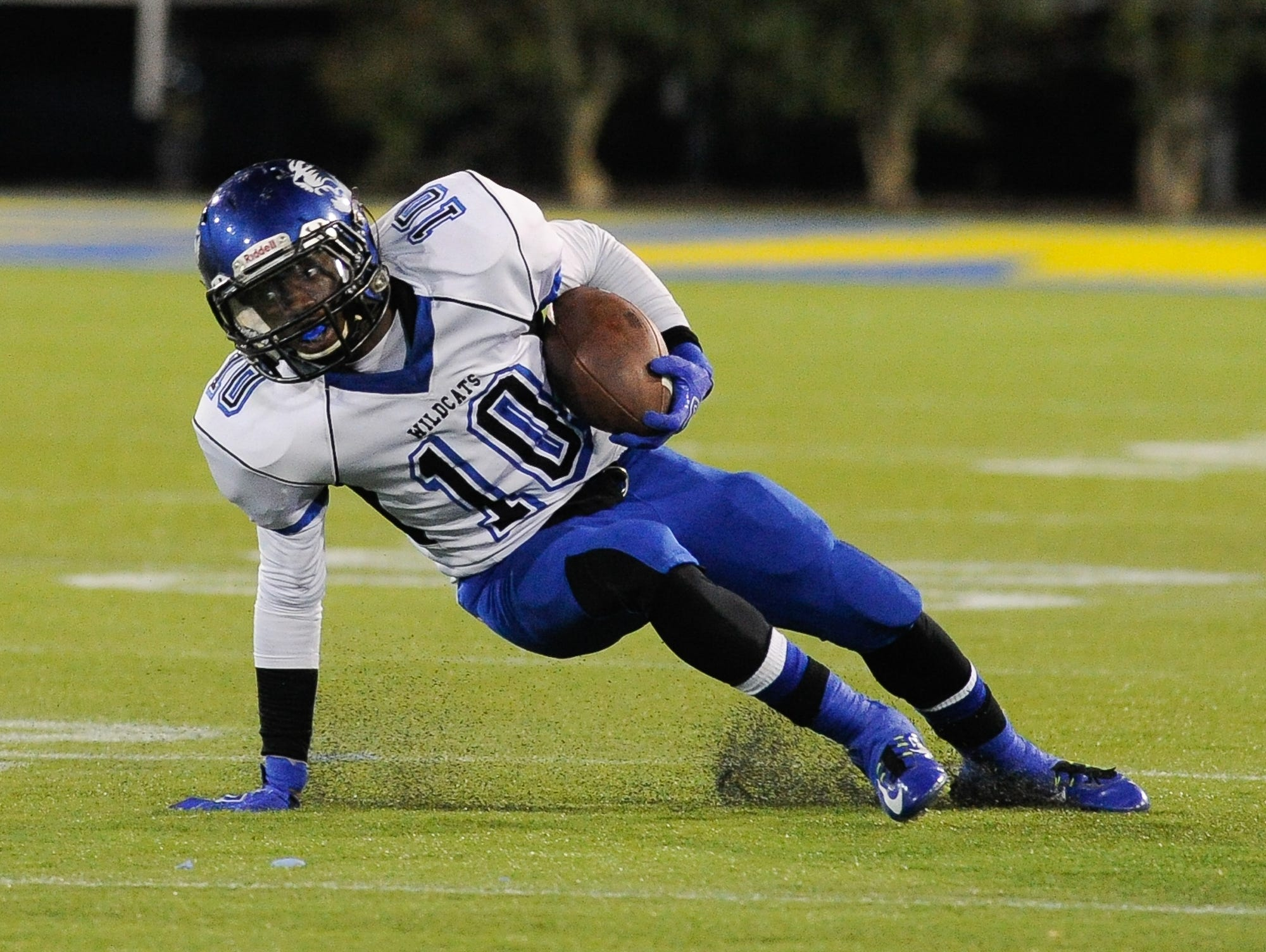 Howard's #10 Korey Kent keeps himself up running during the Division II championship against St. George.