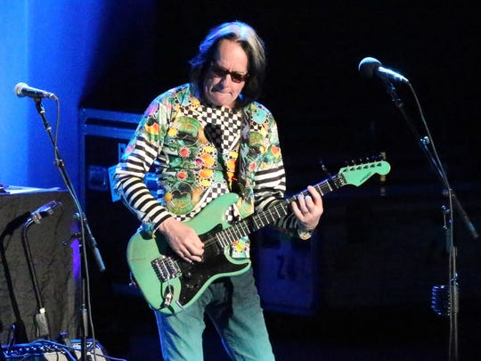 """Singer song-writer Todd Rundgren performs Monday night with Ringo Starr And His All Starr Band at the Abraham Chavez Theatre. Rundgren performed some of his own hit songs, including """"I Saw The Light."""""""