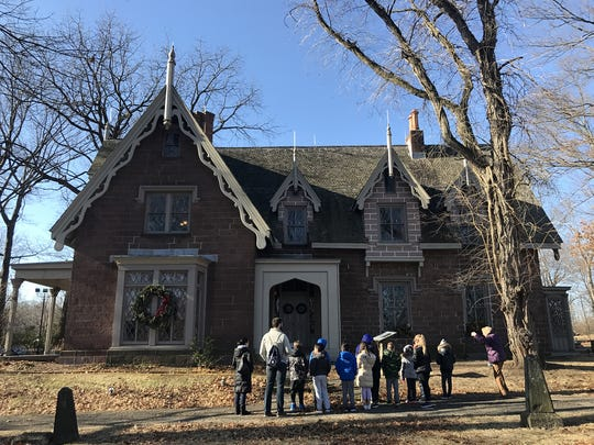 A group of grade schoolers take a tour on Friday morning of The Hermitage Museum, a fourteen room Gothic Revival house built in 19th century in Ho-Ho-Kus.