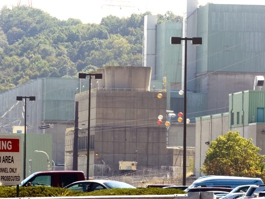 Peach Bottom Atomic Power Station is located in southern York County. The power planet houses two nuclear reactors.       Peach Bottom on Tueasday. YORK DAILY RECORD/SUNDAY NEWS- PAUL KUEHNEL